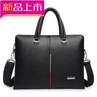 新款男包韩版手提包商务公文包单肩包斜挎包横款男士皮包包电脑包