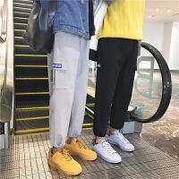 时尚文艺君 九分卫裤男冬季新款收口运动裤韩版潮学生小脚休闲裤