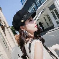 羊毛贝雷帽女韩版潮百搭英伦八角帽韩范儿潮流海军帽