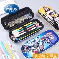 迪士尼笔袋小学生儿童幼儿园男孩潮流酷炫创意韩国漫威双层变形金钢简约笔带1-3一年级3-5拉链铅笔文具盒批发