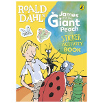 Roald Dahl:James and the Giant Peach 詹姆斯和巨桃 儿童贴纸书适合3-6岁