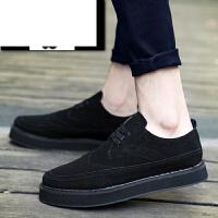 休闲鞋男鞋厚底板鞋男青年韩版潮流男鞋子学生耐磨休闲鞋子黑色潮鞋