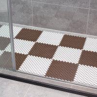 【新品特惠】卫生间浴室防滑垫淋浴房拼接隔水垫子厕所厨房脚垫卫浴洗手间地垫 白咖