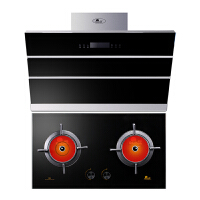 Redsun/红日 WS3+EH02C烟灶套餐 侧吸式抽油烟机红外线燃气灶套装组合 烟机灶具