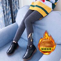 韩版小女孩儿童休闲加绒加厚打底裤女童裤子冬装修身长裤