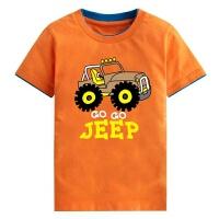 男童T恤夏装 2018新款汽车中大童百搭短袖儿童半袖打底衫童装
