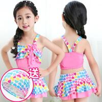 女童泳衣 分体宝宝公主裙式裤小中大童游泳衣泳装 儿童比基尼