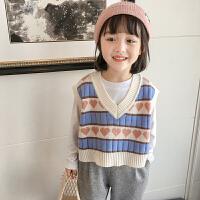 女童针织马甲春秋外穿小女孩洋气儿童春季毛衣背心潮