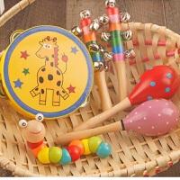 早教宝宝手摇铃组合婴幼儿园玩具男女小孩益智玩具6-12个月1周岁