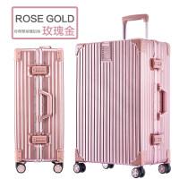 防刮铝框拉杆箱女韩版复古20寸旅行箱箱密码登机箱行李箱男28寸