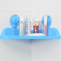 吸盘三角浴室置物架卫生间吸盘三角置物架浴室免打孔厕所厨房收纳架壁挂式转角架颜色随机