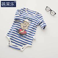 婴儿童连体衣服3月包屁衣宝宝三角哈衣棉0春季新生儿睡衣