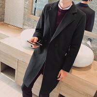 秋冬新款呢大衣男士修身中长款风衣韩版上衣毛呢外套