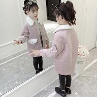 韩版时尚洋气潮流中长款女孩中大童上衣童装女童冬装外套