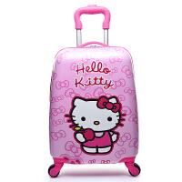 定制16寸18寸儿童卡通拉杆箱男女孩旅行箱宝宝行李箱小学生登机箱 淡粉肤 18寸女孩猫