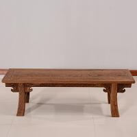 家具中式实木矮凳子 古典仿古木长板凳长条凳小板凳 茶凳 大号( 128长-35宽-40高 )
