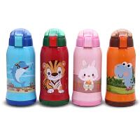 正品儿童带吸管保温杯便携不锈钢水壶幼儿园小学生防摔两用多用水