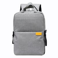多功能佳能尼康相机包双肩背包单反摄影包防水轻便款时尚包 经典款灰色 淡雅灰