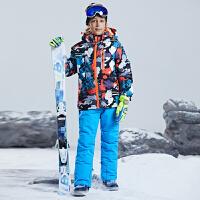 儿童滑雪服套装男童女童外套孩子冬季户外加厚保暖日本滑雪衣服潮新品