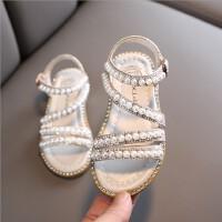 女童凉鞋夏季时尚宝宝小女孩公主鞋子软底沙滩鞋