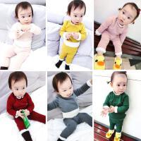霓婴坊 冬季婴幼儿童宝宝双层加厚加绒内衣打底衫打底裤0-5岁冬装