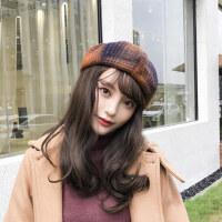 复古英伦南瓜帽女士画家帽子潮 韩版百搭八角帽 女孩日系帽子女贝雷帽