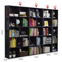 书架书房时尚书柜书架简约现代自由组合格子柜简易置物柜子收纳柜实木书柜书架创意简约 1.4米以上宽