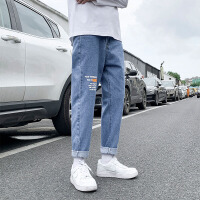 男士宽松直筒牛仔长裤男装0 韩版潮牌休闲潮流秋季裤子