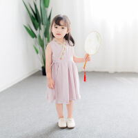 女童汉服小女孩连衣裙女宝宝旗袍公主裙子儿童唐装1小女孩3-5周岁