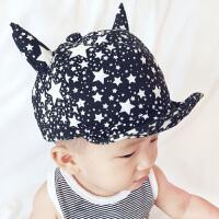 春款韩版宝宝帽子夏季儿童软帽檐鸭舌棒球帽婴儿纯全棉遮阳帽男女