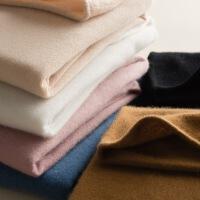 高领羊绒衫女山羊绒衫秋冬新款堆堆领套头毛衣针织打底衫