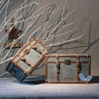 复古收纳箱有盖实木木箱子储物箱仿古箱子杂物整理箱做旧大号储物 地中海蓝 超大号