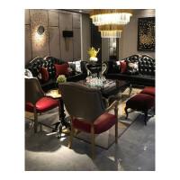 欧式沙发新古典真皮沙发组合简约美式轻奢客厅实木家具小户型简欧#85 组合