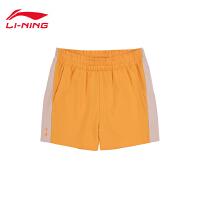 李宁迪士尼米奇联名款短卫裤女士2020新款夏季休闲运动裤AKSQ084