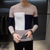 男装秋冬新款毛线衫男士针织衫修身薄款时尚潮流毛衣男