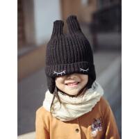 儿童帽子秋冬时尚可爱超萌秋款洋气潮韩国男童女童防风针织毛线帽