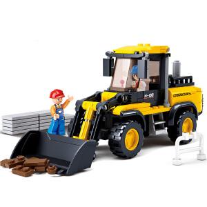 【当当自营】小鲁班工程系列儿童益智拼装积木玩具 铲车M38-B0538