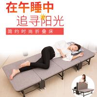 折叠床硬板午休值班陪护单人床家用临时加床办公室四折床多省