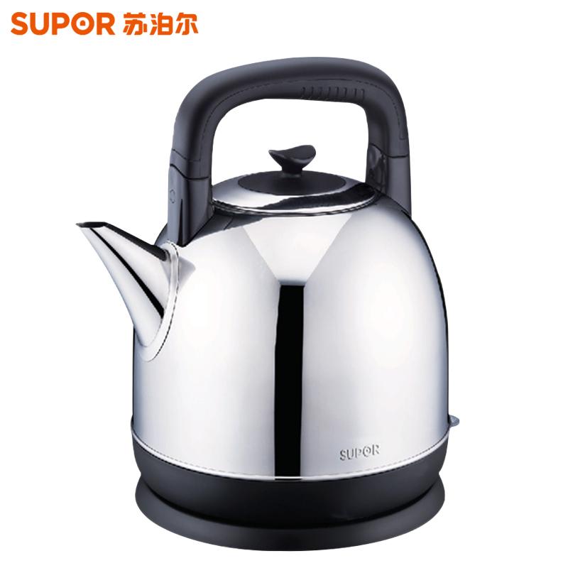 苏泊尔(SUPOR)电热水壶 大容量304不锈钢电热水壶自动断电烧水壶 SWF40C01A 4L大容量,304不锈钢壶体,断电保护