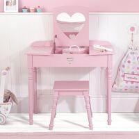 北欧简约网红化妆桌卧室现代简约梳妆台小户型迷你桌样板房 白色桃心化妆桌 现货 组装
