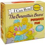 英文原版 The Berenstain Bears Phonics Fun 贝贝熊 I Can Read 自然拼读盒装