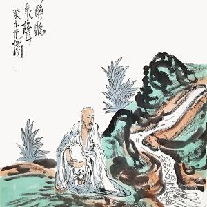 中国国家画院国画院副院长南京书画院院长范扬《静听》LL223