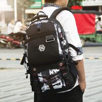 行李背包男双肩包户外休闲登山包多功能旅行包大容量超大出差