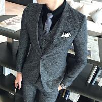 西服套装男韩版修身西装三件套装伴郎新郎结婚礼服英伦正装潮