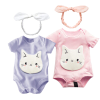 婴儿连体衣服新生儿春季装00岁7月季休闲爬哈服运动服新年