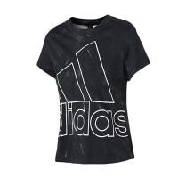 adidas阿迪达斯女子短袖T恤2018新款透气休闲运动服CF2662