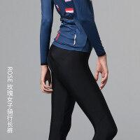 夏秋骑行服长裤3D坐垫减震山地自行车骑行裤女单车骑行装备新品 黑色