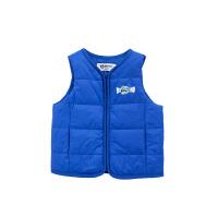 小猪班纳童装男童棉服2020冬季新款宝宝无袖外套儿童棉袄拉链衫厚