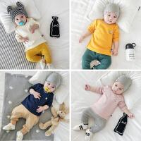 婴儿秋季新款纯棉男女宝宝0-3岁幼儿外出百搭打底长袖上衣T恤