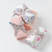[3折价:39]戴维贝拉男女宝宝婴儿夏季纱布棉抱毯四层毯DB2594-N